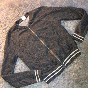 Abercrombie and Fitch Long Sleeve Zip Up Sweater
